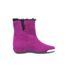 Baldinini Trend Collection: Ankle boots in purple suede #Baldinini #Trend #AnkleBoots #Purple