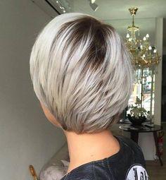 Short Layered Platinum Haircut