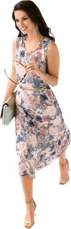 Alessa W. Kleid in bezauberndem Blütendruck ab 62,99€. Kleid aus dezent transparenter Qualität, Polyester, Figurumschmeichelnde Form bei OTTO