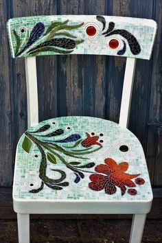 "Mosaic chair ""flower power"""