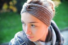 Crochet turban headband - FREE PATTERN www.knots-thoughts.blogspot.com
