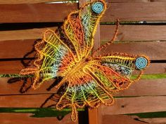 Macrame butterfly made by Macrame Art / Jolanta Surma