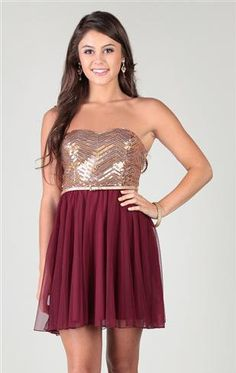 53545a8752 chevron sequin strapless dress with skinny belt circle skirt