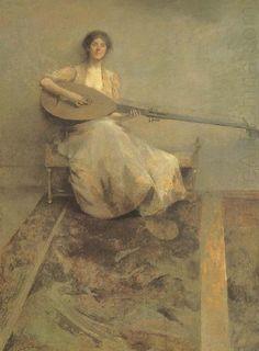 Lány Lant, Thomas Wilmer Dewing