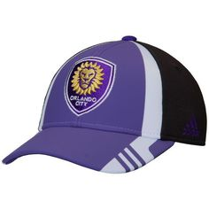 cb692b3ca80 Men s Orlando City SC adidas Purple Authentic Team Structured Adjustable Hat