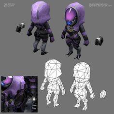 lowpoly mini Mass Effect scene - Polycount Forum
