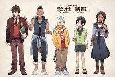 Zuko, Sokka, Aang, Toph, and Katara - Avatar Avatar Aang, Avatar Airbender, Team Avatar, Zuko, Fan Art Anime, The Last Avatar, Avatar Series, Korrasami, Legend Of Korra