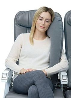 Brand: Travelrest Color: Blue Features: - The only pillow, neck pillow or travel accessory that provides FULL LATERAL SUPPORT for the upper body making it easier to relax, fall asleep, and stay asleep longer. Best for side-sleepers! - Promotes proper head and neck alignment - KEEPS HEAD FROM FALLING FORWARD. Ideal for chronic pain sufferers. INFLATES EASILY with just a few breaths and DEFLATES INSTANTLY. Stores neatly when rolled to minimize packing space. - Patented ERGONOMIC design provides Window Seats, Window Bed, Bed Linens, Linen Bedding, Head And Neck, Neck Pillow, Color Blue, Upper Body, How To Fall Asleep