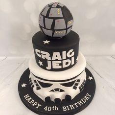 3 tier Star Wars theme cake - Star Wars Cake - Ideas of Star Wars Cake - 3 tier Star Wars theme cake Latest Birthday Cake, Star Wars Birthday Cake, Adult Birthday Cakes, Star Wars Party, Star Wars Cake Toppers, Birthday Cake Delivery, Happy Birthday Kids, 10th Birthday, Birthday Party Snacks