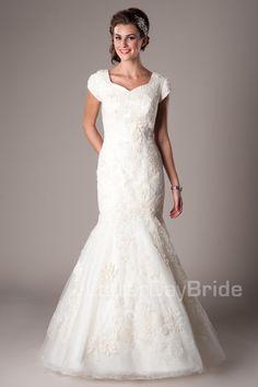 Venetian Modest Wedding Dress Latter Day Bride & Prom Gateway Bridal Modest Wedding Gowns, Modest Bridesmaid Dresses, V Neck Wedding Dress, Affordable Wedding Dresses, Modest Dresses, Bridal Gowns, Prom Dresses, Formal Dresses, Latter Day Bride
