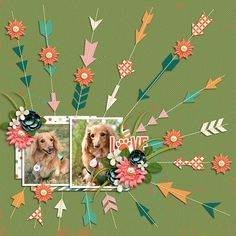 Love My Furry Baby  Template :Stitched Up05 by Akizo Designs http://www.thedigichick.com/shop/Akizo-Designs/  Kit : Furry Friends Woof by Cornelia Designs http://store.gingerscraps.net/Cornelia-Designs/