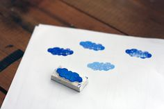 Cloud stamp. Really easy!
