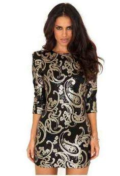 www.missguided.com amazing dress! Very festive.