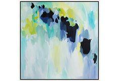 Linda Colletta, Sidewalk Chalk. Giclee on canvas in white wood frame. 24x24 or 38x38; $175 or $275