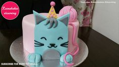 Cat Kitten Birthday Cake Design Ideas Decorating Tutorial Video At Home intended for Cat Cake Designs - Cake Design Ideas Easy Kids Birthday Cakes, Simple Birthday Cake Designs, Cartoon Birthday Cake, 1st Birthday Cake For Girls, Animal Birthday Cakes, Simple Cake Designs, Baby Birthday Cakes, Beautiful Birthday Cakes, Birthday Ideas
