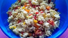 Colorful Pasta Salad Without Mayonnaise by DiedickeTanteX Vegetable Side Dishes, Vegetable Recipes, Camping Meals, Kids Meals, Toddler Vegetables, Parmesan, Thanksgiving Vegetables, Different Vegetables, Beef Ribs