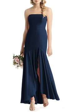 100 Bridesmaid Dresses Perfect for Your Fall Wedding | The Perfect Palette Chiffon Gown, Strapless Dress Formal, Burgundy Satin Dress, Fall Bridesmaid Dresses, Full Length Skirts, Gowns Online, Satin Dresses, Women's Dresses, Formal Dresses