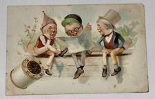J Coats Six Cord Thread Men Sitting Antique Vintage Victorian Trade Card VTC