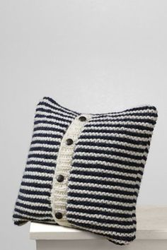 navy blue stripes and cozy! pillow of the year.