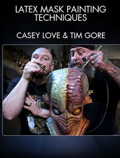 Learn how to paint a latex monster mask with Creature FX masters Tim Gore (Hellboy) and Casey Love (Predators).