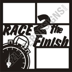 """Race 2 the Finish Title"" by EZ Laser Designs. I love the detail in this overlay. This layout is perfect for any runner but you can use it for any kind of race not only running. Scrapbook Page Layouts, Scrapbook Pages, Scrapbooking Ideas, Book Layouts, Scrapbook Designs, Running Race, Running Medals, Running Photos, Paper Lace"