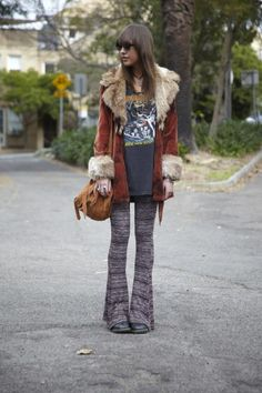 Love this bohemian rock star look