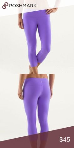 🍋lululemon wunder under crop purple 🍋lululemon wunder under crop in purple some signs of wear on these priced lower for that reason lululemon athletica Pants Ankle & Cropped