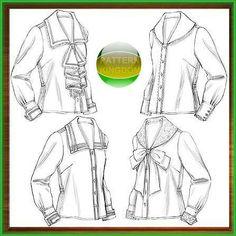 Butterick 4826 Ladies Historic Blouse/Shirt Patterns Vintage