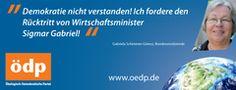 ÖDP Bundesverband: ÖDP-Bundesvorsitzende verlangt Rücktritt Gabriels