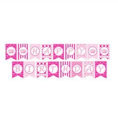 FREE Printable Happy birthday banners pink blue   FREE Printables ...