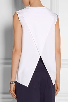 Office Casual: What to Wear With Jeans - Acne Studios Clair Cotton-Poplin Top, $230; at Net-a-Porter