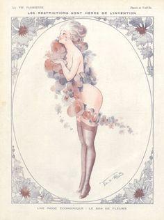Le Boa de Fleurs by Vald'Es  (Valverane  & D'Espagnat) (1918)