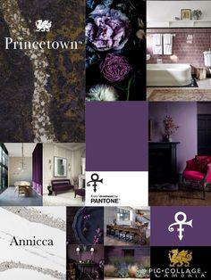 #CambriaQuartz Cambria Princetown Cambria Annicca Pantone Love Symbol #2 Pantone Prince Purple Cambria Quartz, Bohemian Interior Design, Love Symbols, Home Design, Game Room, Pantone, Bunt, Playroom, Countertops