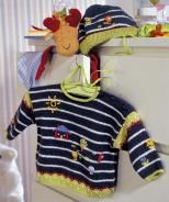 Design 5400 A Sweater and B Hat - pattern