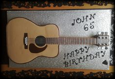 Are you into cakes and bakes? Here is a fresh design of guitar cake which is to be baked with zeal and then posted on a template design. Guitar Birthday Cakes, Guitar Cake, Sweet 16 Birthday, Dad Birthday, Birthday Ideas, Birthday Parties, Bob Ross Birthday, Music Cookies, Acoustic Guitar Art