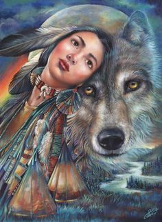 DREAM OF THE WOLF MAIDEN BY GLORIA WEST