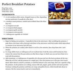Perfect Breakfast Potatoes