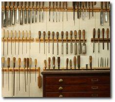 Beautiful Tool Displays - Garage Organization Ideas- Unknown Source Tools, Garage Organization, Garage Storage, Storage Ideas, Garage Tool Storage, Garage Cabinets
