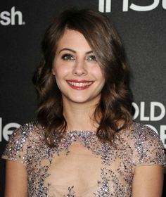 Willa Holland at the HFPA and InStyle Golden Globes Celebration. Makeup by Toby Fleischman. Hair by Giannandrea.