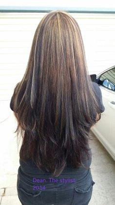 3 Tips on How to Avoid Gray Hair Spring Hairstyles, Hairstyles Haircuts, Pretty Hairstyles, Hairstyle Ideas, Long Dark Hair, Long Hair Cuts, Hair Styles 2016, Long Hair Styles, Ombre Hair Color For Brunettes