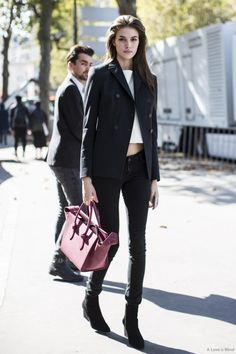 well suited. #VanessaMoody #offduty in Paris.