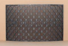 WI-1P30 Custom Wrought Iron Fireplace Screen