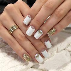 Gel Half-moon nails photos 2018