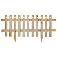 Cerco de madera con estaca natural 100 x 40 cm-Sodimac.com