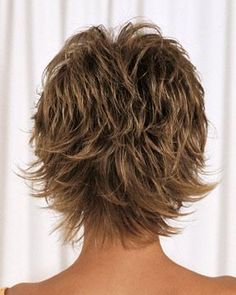 Alan Eaton Wigs Tranquil - - Short Hair Cuts For Women - Shaggy Short Hair, Short Shaggy Haircuts, Short Shag Hairstyles, Short Thin Hair, Short Hair With Layers, Layered Hair, Short Hairstyles For Women, Short Hair Back View, Long Hair