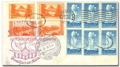 """United States Collections - United States, Airmail, Flight & Zeppelin Cover Assortment, 1931-1941, group of twelve covers, including 1931 R.E. Byrd autographed cover with """"Peoria Welcomes Visit of/ Rear Admiral P.E. Byrd/ Apr. 30, 1931"""" handstamp; two 1936 Hindenburg first North American Return flight covers with clear flight cachets; 1941 southern route set of nine covers (AAMC FAM 18-20, 18-21, 18-22, 18-22a, 18-22b, 18-22c, 18-23, 18-23a & 18-23b), Very Fine. Suggested Bid $200."""