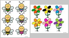 Cada abeja con su flor File Folder Activities, File Folder Games, Toddler Busy Bags, Learn Chinese, Cut And Paste, Yoshi, Art Lessons, Crafts For Kids, Snoopy