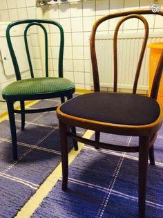 Säljer våra caféinspirerade stolar som är inhandlade speciellt till ett stort 60 års firande och säljs nu p.g.a. platsbrist.  Stolarna finns i 11 st grön färg och 20 st i brun färg.   Dessa är enkla att klä om och med en liten  touch  så blir dem som...