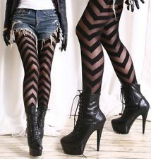 Details about Party Club Runway Chic Punk Chevron V Ribbon Stripe Sheer Opaque Fashion Tights - Nylons / Leggings 3 - Punk Style Grunge, Grunge Look, 90s Grunge, Soft Grunge, Grunge Outfits, Pastel Outfit, Chic Punk, Looks Style, Style Me