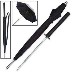 Sword Umbrella! trueswords.com/sword-cane-samurai-katana-umbrella-hidden-blade-p-5595.html | weapons | Pinterest
